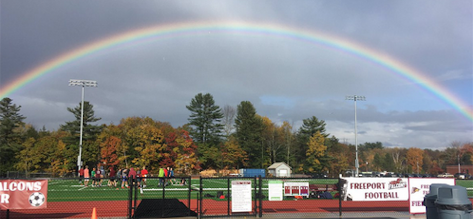 Rainbow over FHS Track