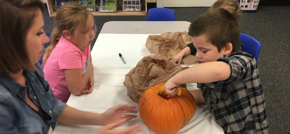 Pumpkin carving for the Freeport Pumpkin Festival