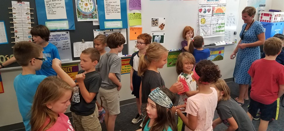 MLS-3rd Graders Greet One Another During Morning Meeting