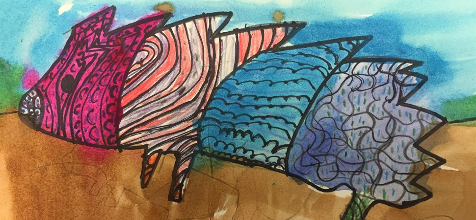 Second grade art work