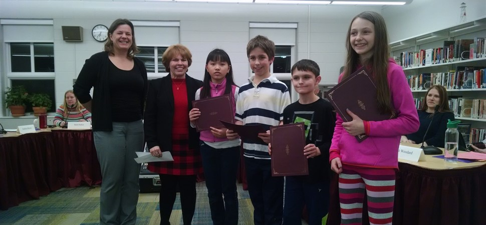 The Mast Landing Math Team is recognized by the RSU5 School Board of Directors.