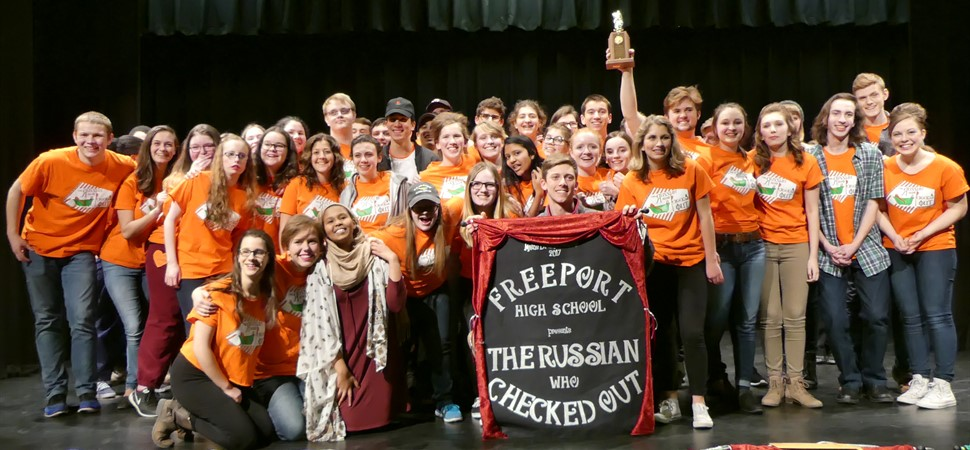 Congratulations to Freeport High School for placing 1st in the 2017 Class B Regional One Act Festival!